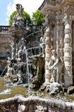 Dresden - barokke fontein stock foto's