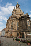 Dresden baroque Cathedral Royalty Free Stock Images