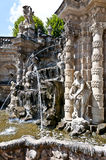 Dresden - baroque fountain. Part of the watergames in the Dresden Zwinger, called bath of the nymphs Stock Photos