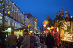 Dresden beautiful Christmas market Royalty Free Stock Photos