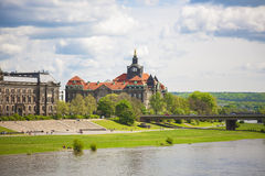 Dresden in a beautiful summer day, Germany Stock Photo