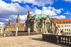 Dresden berömt Zwinger museum Arkivfoto
