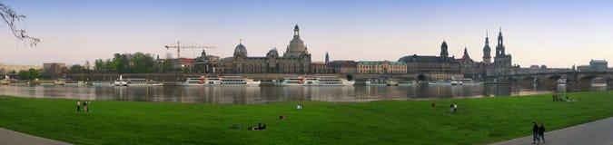 Dresden bij de avond Royalty-vrije Stock Afbeeldingen