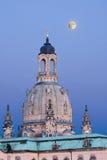 Dresden bij nacht Stock Fotografie