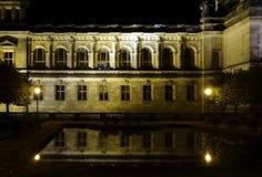 Dresden bij nacht Royalty-vrije Stock Afbeeldingen