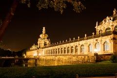 Dresden bij nacht Stock Afbeelding
