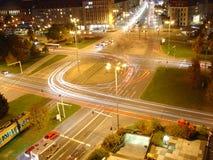 Dresden bij nacht Stock Foto's