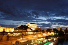 Dresden bis zum Nacht Lizenzfreie Stockfotos