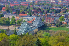 Dresden Blue Wonder  bridge Royalty Free Stock Photos