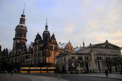 Dresden castle in Altstadt. Winter view Royalty Free Stock Photography