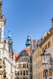 Baroque architecture in Dresden Royalty Free Stock Photo