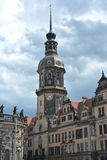 Dresden castle tower Stock Image