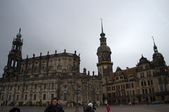 Dresden Cathedral and Castle Stock Photos