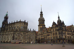Dresden Cathedral and Castle Royalty Free Stock Image