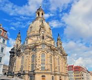 Dresden cathedral. In city centre Royalty Free Stock Photos