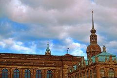 Dresden Cathedral of the Holy Trinity or Hofkirche, Dresden Castle in Dresden, Saxony, Germany stock photography