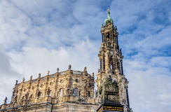 Dresden cathedral in the old town Royalty Free Stock Photography