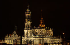 Dresden Catholic Court Church night Royalty Free Stock Photography