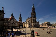 Dresden - center Royalty Free Stock Photos