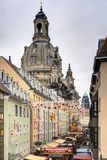 Dresden Christmas market day view Royalty Free Stock Image