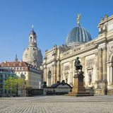 Dresden Church of Our Lady Royalty Free Stock Photography