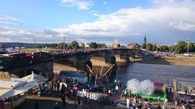 Dresden-city-festival. City festival in Germany Dresden Royalty Free Stock Image