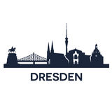 Dresden City Skyline Royalty Free Stock Images