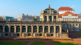 The Dresden city views in Sunny weather Royalty Free Stock Image