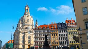 The Dresden city views in Sunny weather Stock Photo