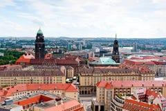 Dresden cityline Royaltyfri Fotografi