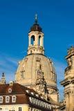 Dresden, closeup on Frauenkirche Stock Image