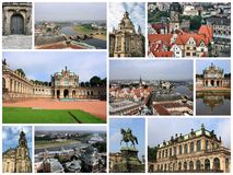 Dresden collage Stock Images