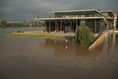 Dresden Congress Center during the June 2013 flood Stock Images