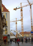Dresden Construction Site Royalty Free Stock Photo