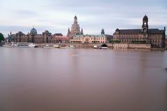 Dresden in de ochtend Royalty-vrije Stock Foto's