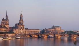 Dresden in de ochtend Royalty-vrije Stock Fotografie