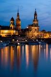 Dresden an der Dämmerung Lizenzfreie Stockfotos