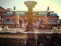 Dresden, detalle del edificio de Zwinger foto de archivo libre de regalías