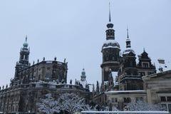 Dresden Deutschland im Winter Lizenzfreie Stockbilder