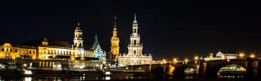Dresden, Deutschland Kathedrale der Heiligen Dreifaltigkeit oder des Hofkirche, Bruehl-` s Terrasse stockfotografie