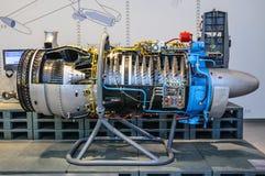 DRESDEN, DEUTSCHLAND - MAI 2015: Flugzeug Jet Engine Turbine in Dres lizenzfreies stockbild