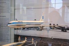 DRESDEN, DEUTSCHLAND - MAI 2015: Passagierflugzeug Boeing 707 PAN AM 195 Lizenzfreies Stockfoto