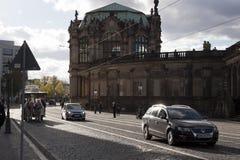 Im zentralen Teil des alten Dresdens Stockfoto