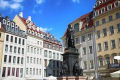 "DRESDEN, DUITSLAND € ""13 AUGUSTUS, 2016: Monument van Friedrich Augu Stock Foto's"