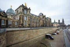 22 01 2018 Dresden; Duitsland - architectuur en landschap van Dres Stock Foto's