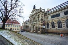 22 01 2018 Dresden; Duitsland - architectuur en landschap van Dres Stock Fotografie