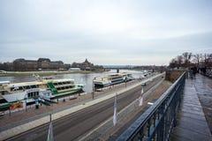 22 01 2018 Dresden; Duitsland - architectuur en landschap van Dres Royalty-vrije Stock Afbeeldingen