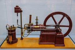DRESDEN, DUITSLAND - MAI 2015: cilinder viertaktbenzine engin Royalty-vrije Stock Foto