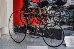 DRESDEN, DUITSLAND - MAI 2015: Fietseureka 1885 in Dresden Transpo Stock Afbeeldingen