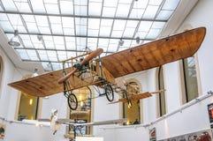 DRESDEN, DUITSLAND - MAI 2015: Vroeg Vliegtuig Bleriot XI 1909 in D Royalty-vrije Stock Fotografie